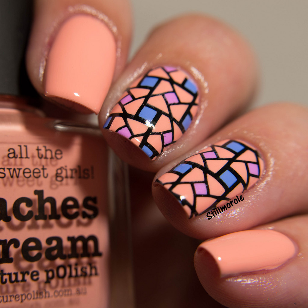 1-Nailart - Peaches n'cream 1