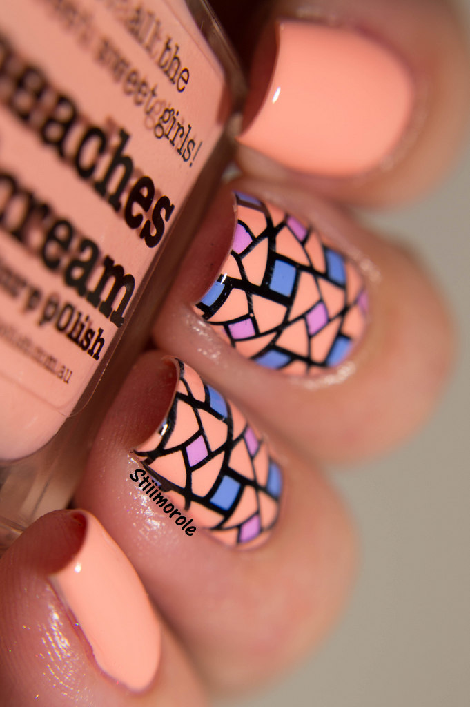 1-Nailart - Peaches n'cream 2