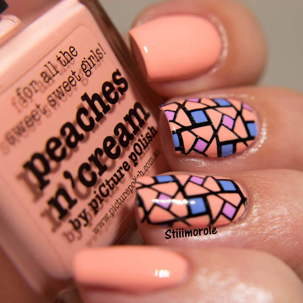 1-Nailart - Peaches n'cream